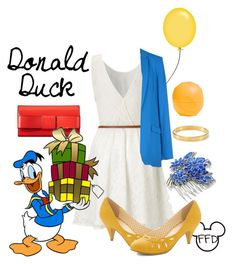 Happy birthday Donald by fashion-from-disney on Polyvore featuring polyvore, fashion, style, Lipsy, Diane Von Furstenberg, But Another Innocent Tale, Orla Kiely, Kate Spade, Eos, Disney and clothing
