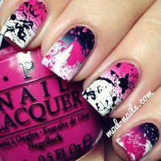 Splatter Nail Art Designs & How To Do Splatter Nails Nail Design, Nail Art, Nail Salon, Irvine, Newport Beach