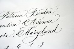 Font examples for wedding invitations