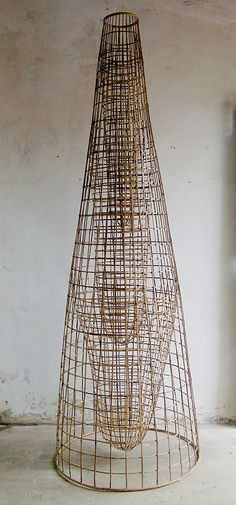 Upstream Sopheap Pich (born Battambang, Cambodia 1971) Date: 2005 Culture: Cambodia Medium: Bamboo, rattan, metal wire, and copper Dimensions: 118 x 39 x 39 in. (299.7 x 99.1 x 99.1 cm) Classification: Sculpture Credit Line: Lent by Tyler Rollins Fine Art Rights and Reproduction: © The Artist and Tyler Rollins Fine Art