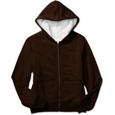 Faded Glory - Women's Zip Hoodie with Full Lining, Brown