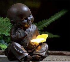 Solar little buddha ornaments lighting garden and outdoor Buddha Peace, Baby Buddha, Little Buddha, Buddha Zen, Buddha Buddhism, Buddha Temple, Zen Meditation, Chakra Meditation, Art Zen