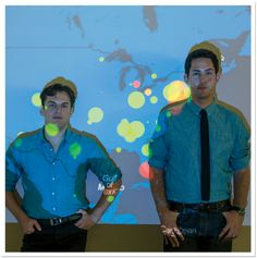 Instagram Founders Mike Krieger and Kevin Systrom in Front of Their Global Domination Map | April 2013