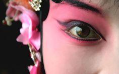 Elegant facial makeup