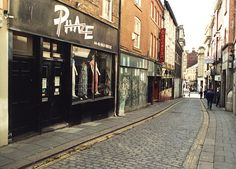 High Bridge Newcastle upon Tyne Maybury Malcolm 1995   The store on the left - Phaze - goth clothing emporium of my youth!