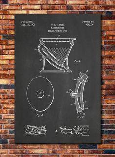Toilet Patent Print Art 1909 by CatkumaPatentPress on Etsy