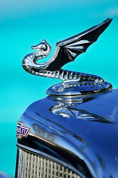 1934 Aftermarket Chevrolet Hood Ornament by Jill Reger