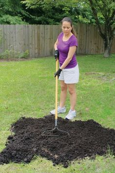 Bald Spot Repair, Step 1 of 4 | Start by using a hard rake to spread compost, topsoil, or garden soil in a one-half-inch layer covering the bald spot. While you can sow seeds directly in the bare spots, the grass will sprout more quickly and won't dry out as easily if it can start growing in loose, fresh soil.