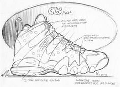 CB max 2 sketch, 1994 by tinker hatfield, interview w/designboom