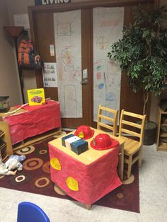 Fire Station in Dramatic Play for Fire Safety Week