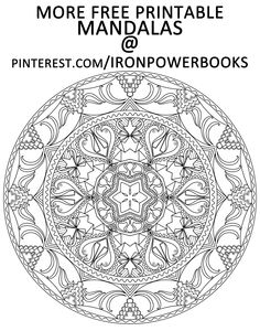 This is from Mandalas to Color - Volume 5 and it is for FREE to print and Color for Relaxation. Follow @ironpowerbooks and see more Mandala Printable. #mandalas #mandalacoloringpage #freemandala Copyright © 2014 IRONPOWER PUBLISHING