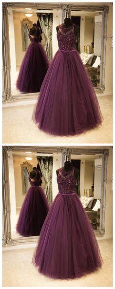 6592bbfbc8f9 New Styles Purple tulle lace long prom dress, purple evening dress 08028  Riva Fashion,