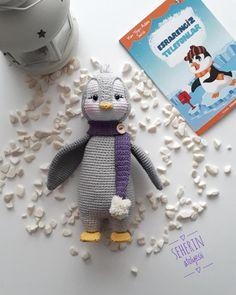 Making of Amigurumi Penguin Pingu - Stofftiere Crochet Bird Patterns, Crochet Cat Pattern, Crochet Motifs, Crochet Patterns Amigurumi, Amigurumi Doll, Crochet Penguin, Crochet Baby Toys, Crochet Bunny, Crochet Dolls