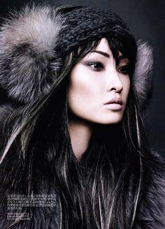 """Grey Tone"" | Model: Wang Xiao, Photographer: Regan Cameron, Vogue China, November 2011"