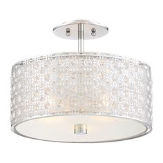 Quoizel PCVY1714C Platinum Collection Verity Medium Semi-Flush Mount Ceiling Light