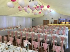 Family style seating with chairs at The Beaverwood with hanging lanterns from ceiling. Chiavari Chairs, Hanging Lanterns, Wedding Venues, Wedding Decorations, Ceiling, Weddings, Beautiful, Style, Wedding Reception Venues