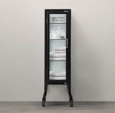 Pharmacy Small Bath Cabinet Black | Short | Restoration Hardware