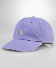 Polo Ralph Lauren Hat, Classic Chino Sport Cap in Mystic Lavender