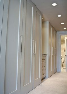 Closet doors are crucial, but commonly ignored when it involves area décor. Produce a new look for your room with these closet door ideas. It is necessary to develop special closet door ideas to improve your house decoration. Master Bedroom Closet, Bedroom Wardrobe, Wardrobe Closet, Home Bedroom, Bedroom Closets, Master Bedrooms, Bedroom Wall, Built In Wardrobe Doors, Wardrobe Behind Bed