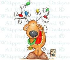 Plugged in Reindeer - Christmas Images - Christmas - Rubber Stamps - Shop