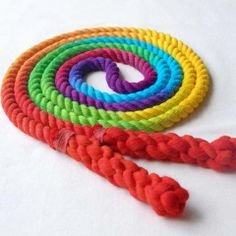 All Cotton Hand Spliced Jump Rope Multi Colored — Jupiter's Child