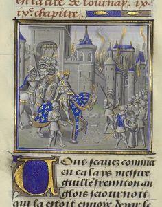 Chroniques de Jean Froissart, tome II. Date d'édition : 1401-1500. Bibliothèque de l'Arsenal. Ms 5188