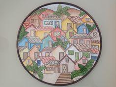 Ceramic painted by Mara Ribeiro - Santa Cerâmica Hand Painted Pottery, Pottery Painting, Ceramic Painting, Dream Drawing, Decorative Plates, Drawings, Tableware, Home Decor, Painting Studio