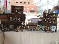 Lovely Little Songbird #vintage booth set-up #craftfair #LovelyLittleSongbird #ColumbusOH #MarketFlea #northmarket