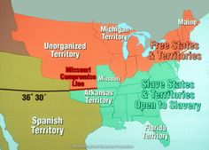 Compromise Of Calif The Th Free State Was Admitted To - 1819 map of us free and slave states