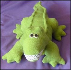 Crocodile Plush Toy Sewing Pattern PDF by FunkyFriendsFactory Plushie Patterns, Animal Sewing Patterns, Stuffed Animal Patterns, Doll Patterns, Pattern Sewing, Sewing Toys, Baby Sewing, Cute Stuffed Animals, Dinosaur Stuffed Animal