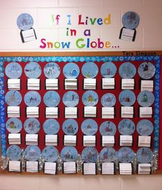 If I lived in a snow globe...  Students write about what they would see, feel and do if they lived in a snow globe!  I found this idea at www.tarasimpson.blogspot.com.