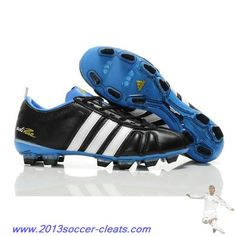 promo code cfb3d 9736c Buy Adidas Adipure IV Trx FG Cleat Black White Blue For Wholesale