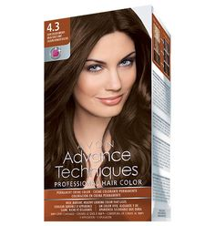 AVON Advance Techniques professional hair color. I love this!!! Only $7.99. It includes a pre-treatment and a great post-treatment conditioner.