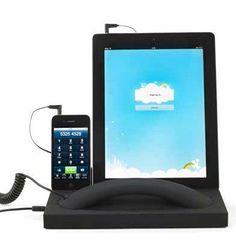 Escritorio con auricular para smartphones y tabletas $76.40