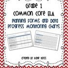 Grade 1 Common Core ELA Planners and Data Progress Monitoring Charts! An excellent tool for planning how you will address the Common Core Standards...