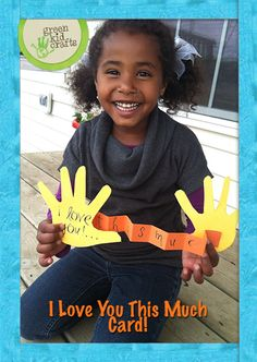 Show Mom, Dad, Grandma, or Grandpa how much they are loved with this handmade card! http://www.greenkidcrafts.com/handprint-card/