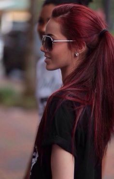 A bold red ponytail.
