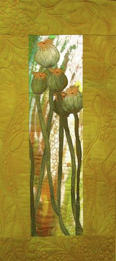 Textile Gallery - Nancy Dobson Textile Artist Thread Painting, Fabric Painting, Fabric Art, Textile Fiber Art, Textile Artists, Patchwork Appliqué, Landscape Art Quilts, Creation Art, Flower Quilts