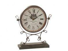 Reloj clásico metal marrón