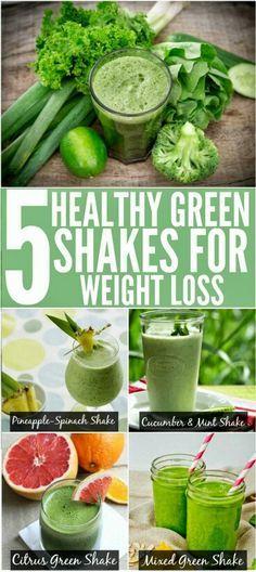 Weight loss green shakes