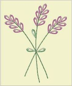 Lavender Hour Embroidered Napkin Pattern