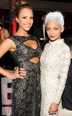 Jessica Alba & Nicole Richie from 2013 Met Gala Party Pics  The Escape from Planet Earth actress and the Fashion Star judge stick together.