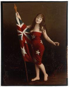 Marie-Celeste de Villentroy in Australian flag, 44 Vintage Photos That Show How Fast Australia Has Changed