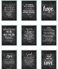 Free printable Chalk Verses - Craft ~ Your ~ Home