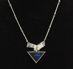Lapponia Jewelry, sterling silver necklace with spectrolite. #Finland   © Uppsala Auktionskammare