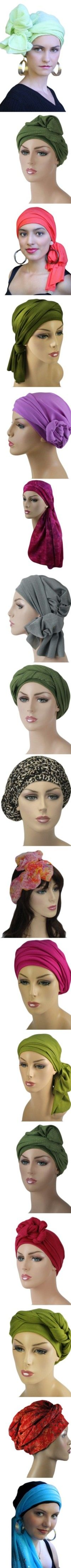 Every Titillating Turbans Turban set is a hat & matching scarf  that can make all these styles, from Boho turban or Bohemian, to office, casual, or elegant evening head wrap.