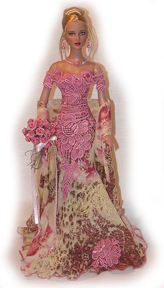 TONNER TYLER WENTWORTH OOAK GOWN DRESS FLORAL & LACE