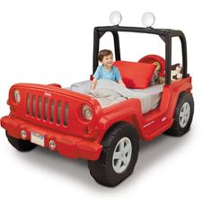 Jeep Wrangler bed… way cooler than a race car bed...
