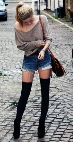 So simple and cute! Love the socks