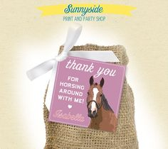 Pony Party Favors | Horse Girl Birthday Favor Tags - Printable by Sunnyside Print & Party ...